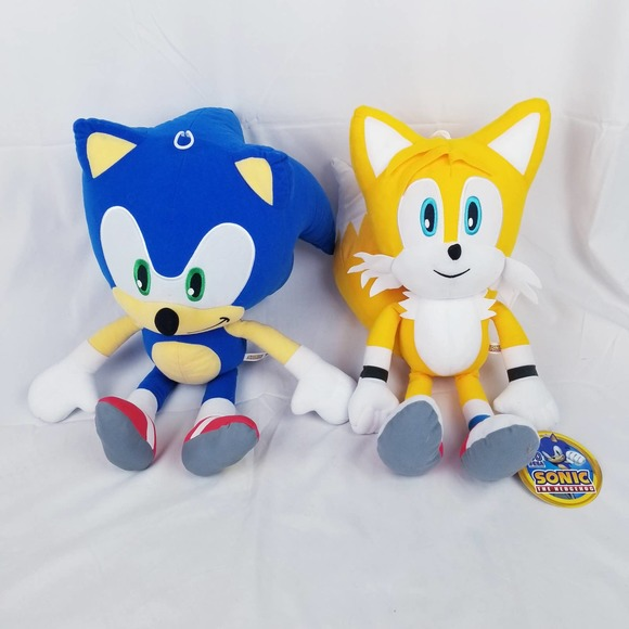 """Sonic the Hedgehog and Tails Toy Factory Plush 17"""""""